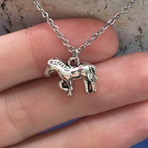 Horse Pony Necklace TibetanSilver Handmade 4for$20